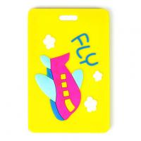 Buy cheap Eco-friendly pvc luggage tag with 3D embossed logo for luggages hotsales from wholesalers