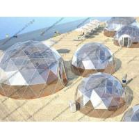 Buy cheap Beach Transparent Geodesic Dome Tent Oem Waterproof With Floor Sytem from wholesalers