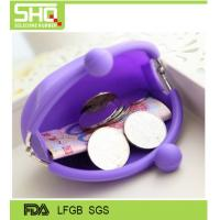 Buy cheap Fashion candy color waterproof silicone small coin purse very cute and eco-friendly from wholesalers