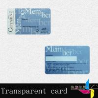 Buy cheap Supermarket Transparent PVC Magnetic Stripe Card 0.6mm Signature Panel from wholesalers