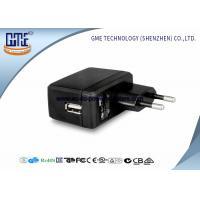 EU Switching AC DC Power Adapter , 1A Universal Wall Adapter Usb Lightweight