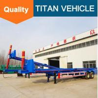 Buy cheap TITAN  tipping container chassis , 40ft container 45 ° container tipping trailer from wholesalers