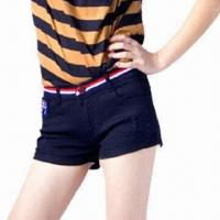Buy cheap Women's Denim Shorts, Available in Different Sizes and Colors, Eco-friendly from wholesalers