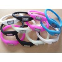 Buy cheap Best selling silicone sport ion wristband watch negative ion bracelet sports watch from wholesalers