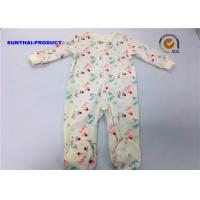 Buy cheap Dinosaur Water Ink Print Baby Pram Suit 80% Cotton 20% Polyester Velour Footie from wholesalers