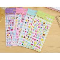 Buy cheap 3D Dimensional Puffy Alphabet Stickers For Scrapbooking Kit Silk Printing from wholesalers