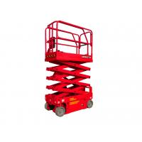 China 7.8 Meters Wide 4 Wheel Drive Scissor Lift Equipment Low Energy Consumption on sale