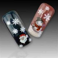 Buy cheap Safety unique Artificial customizable Christmas simple nail art designs stickers for girl from wholesalers