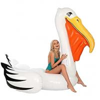 Buy cheap Custom overwater white duck rider and adult water beach inflatable float mattress from wholesalers