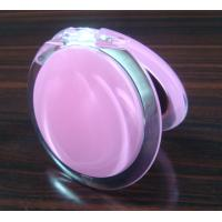 Buy cheap Plastic round 10X magnifying makeup pocket mirror with various colors from wholesalers