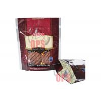 Buy cheap Bottom Gusset Bag Biscuit Stand Up Pouches Ziplock With Handle from wholesalers