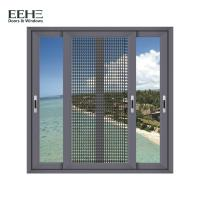 China Heat Insulation Home Aluminum Sliding Glass Windows With Mosquito Net 1.4mm Thickness on sale