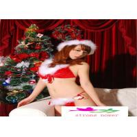 Buy cheap Sexy Lingerie Christmas Deep V Underwear Women Red Sex Cloth Sexy Interior Lingerie Sex Robe Jumpsuit Bodysuit from wholesalers