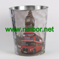 Buy cheap London Bus big ben telephone booth design metal tin storage bucket storage container from wholesalers