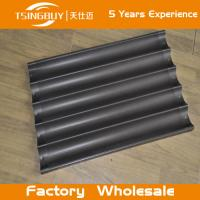 Buy cheap Factory wholesale bread baking aluminum sheet-non-stick baguette tray- french baguettes baking tray from wholesalers