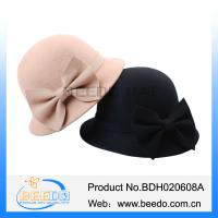 Buy cheap Handmade women cloche bowler hats jewish caps from wholesalers