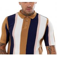 Buy cheap Knitted Vertical Striped T Shirt Mens Multiple Color Available Size XS-XXXXXL from wholesalers