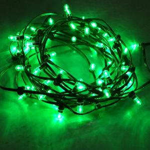 China Outdoor Decorative Christmas Tree Light String 100m 666leds 12V LED Clip Lights green lights on sale
