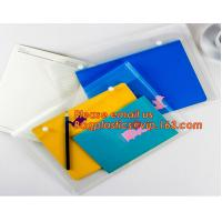 Buy cheap OEM Office stationery filing supplies plastic document pp envelope carrying file folder bag with button closure from wholesalers