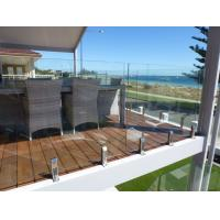Buy cheap Railing Balcony Design, Polish Stainless Steel Glass Balcony Railing product