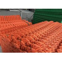 Buy cheap Chain Link Fence mesh 2.5 x 2.5 PVC and PE coated Orange Color Diameter 8gauge/4.00mm from wholesalers