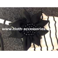 Buy cheap 120D Chiffon Black Flower Corsage / Pearl Unique Simple Corsages For Prom from wholesalers
