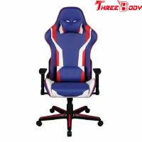 Buy cheap Mobile Comfortable Computer Gaming Chair , Blue PU Leather Racing Seat Desk Chair from wholesalers