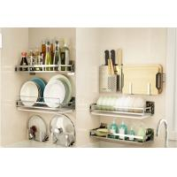 Buy cheap Metal Tube Kitchen Storage Racks Non - Folding Rack With Multifunction from wholesalers