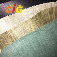 Buy cheap 0.6mm - 1.2mm Thick Linen PVC Artificial Leather For Sofa / Car Seat product