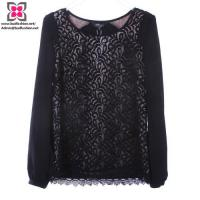 Buy cheap Wholesale Custom Women Fashion Long Sleeve Shirts with Laces from wholesalers