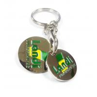 Buy cheap Nickel Plated Engraved Logo 1 Euro Trolley Token Coin Keychains Suitable for Business Gifts from wholesalers
