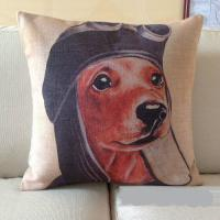 Buy cheap Decorative indoor dog print chair cushion cover cheap pillow cover seat cushion cover 45cm from wholesalers