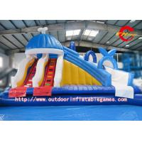 Buy cheap Outdoor Green PVC Inflatable Water Slide With Double N Quadruple Stitching from wholesalers