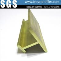 Buy cheap Customized Solid Extruding Brass H Channel Sections Within 6m from wholesalers