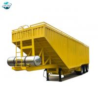 Buy cheap Customized 60t 80t grain corn transport semi trailer dump truck from wholesalers