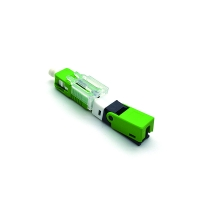 Buy cheap FTTH SC APC 0.3dB Single Mode 55MM Fiber Optic Fast Connector from wholesalers