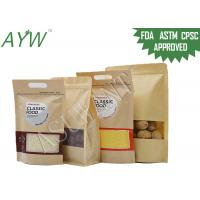Buy cheap Multiple Uses Waterproof Kraft Paper Zipper Bags Customized Size For Walnuts / Candy from wholesalers