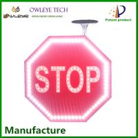 Buy cheap OEM ODM solar panel led illuminated traffic signs and symbols 2MM ultra thin solar traffic sign from wholesalers