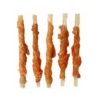Buy cheap Natural rawhide twist wrap chicken from wholesalers