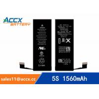 Buy cheap ACCX brand new high quality li-polymer internal mobile phone battery for IPhone 5S with high capacity of 1560mAh 3.8V from wholesalers