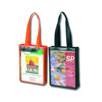Buy cheap Silk Screen Printed Non Woven Tote Bag With A4 Clear PVC Window from wholesalers