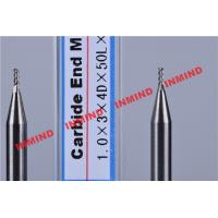 China Carbide / Aluminum End Mill with HRC50 Hardness 45 Degree Helix Angle on sale