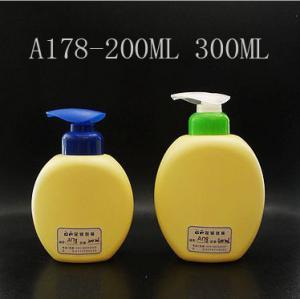 Buy cheap Flat Round Plastic  Shampoo Bottles 200ml 300ml, Children Lotion Pump Bottle product