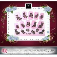 Buy cheap Pink 2D Beauty Nail Art Sticker, full nail Decals For DIY Nail Decoration (63×53mm) from wholesalers