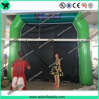 Buy cheap High Quantity Green Inflatable Paint Booth, PVC tarpulin Inflatable Booth Tent from wholesalers