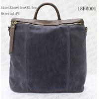 Buy cheap Fake Suede & PU Backpack School Bags For Men With Secret Pocket , Customized Logo from wholesalers