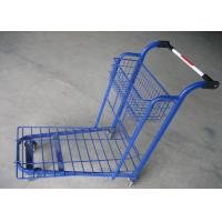 Buy cheap Removable Plastic Supermarket Trolley Wire Mesh Platform Trolley Cart from wholesalers
