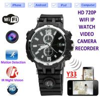 Buy cheap Y33 8GB 720P WIFI IP Spy Watch Camera Home Security Smart Remote CCTV Video product
