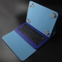 Buy cheap Portable Leather 9 Inch Tablet Case With Bluetooth Keyboard , 10m Working Distance product