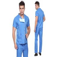 Buy cheap Blue Disposable Scrub Suits , Unisex V Neck Scrubs For Laboratory / Home Care from wholesalers
